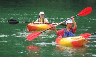 子どもたちがカヌー体験㉝